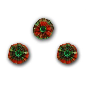 Gem Ring Bows, Christmas - Package of 50