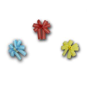 Gingham Pinwheel Bows - Package of 50
