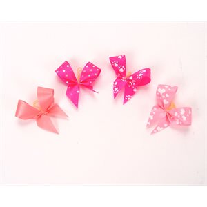 Pink Satin Bows - Package of 50