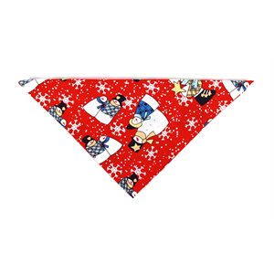 Christmas Holiday Bandannas - Country Snowmen on Red