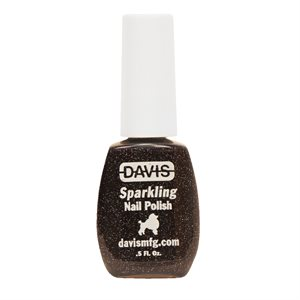 Sparkling Nail Polish, 0.5 oz.- Black