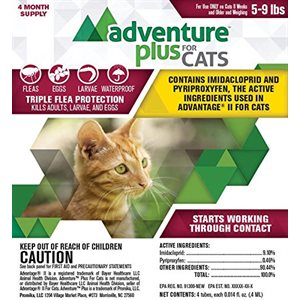 Adventure Plus for Cats- Small (5- 9 lbs)
