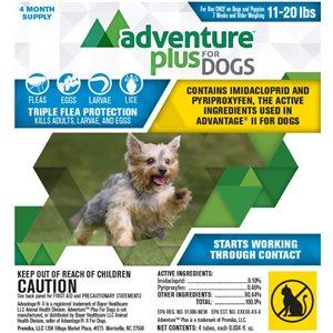 Adventure Plus for Dogs- Medium (11- 20 lbs)