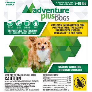 Adventure Plus for Dogs- Small (3- 10 lbs)