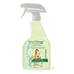 Pure Planet Natural Flea and Tick Spray On Shampoo, 22 oz