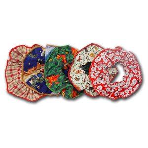Christmas Ruffies - 12 Medium Assorted Designs