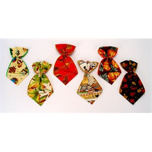 Autumn Bowser Ties - 12 Large Assorted Designs