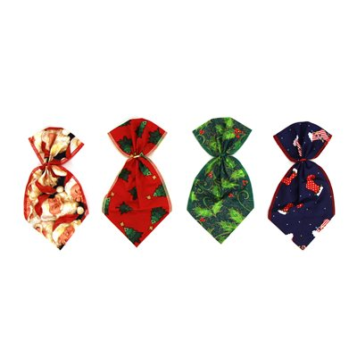 Christmas Bowser Ties - 12 Large Assorted Designs