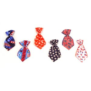 Patriotic Bowser Ties - 12 Small Assorted Designs