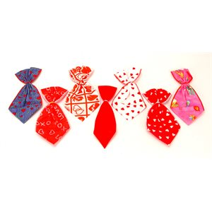 Valentines Bowser Ties - 12 Medium Assortment Designs